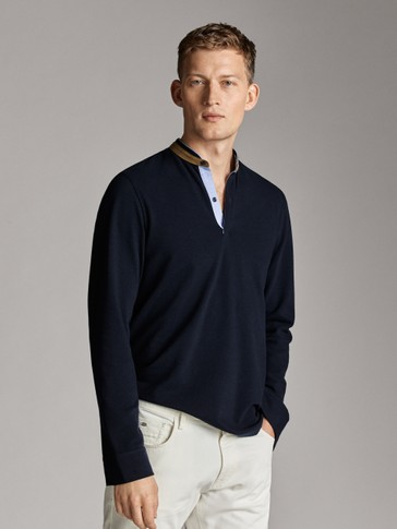 COTTON POLO SHIRT LONG SLEEVE