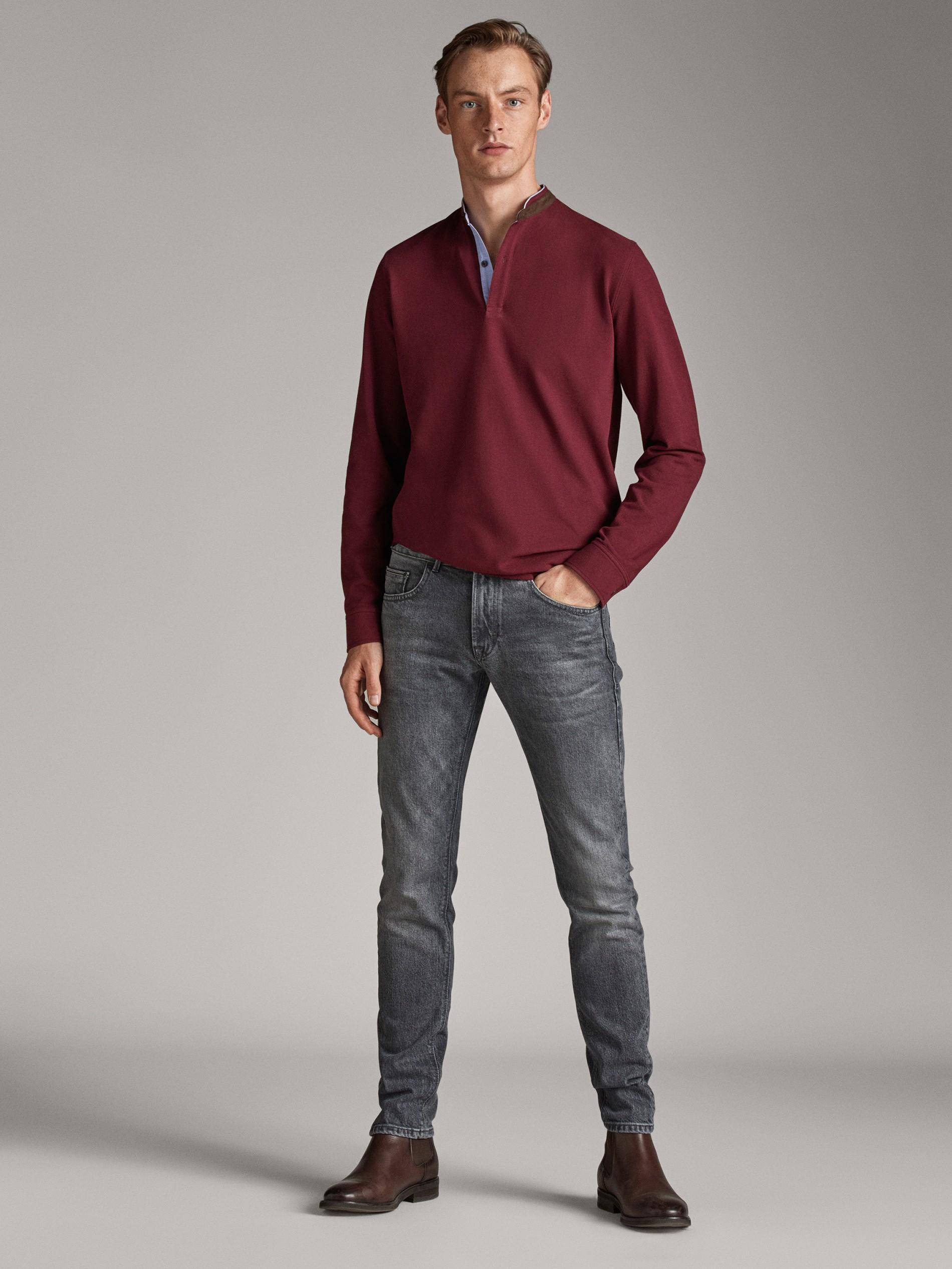chaqueta hombre cuello camisero lino algodon massimo dutti