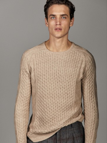 COTTON AND WOOL SWEATER