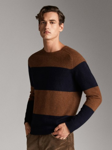 COLOUR BLOCK WOOL SWEATER