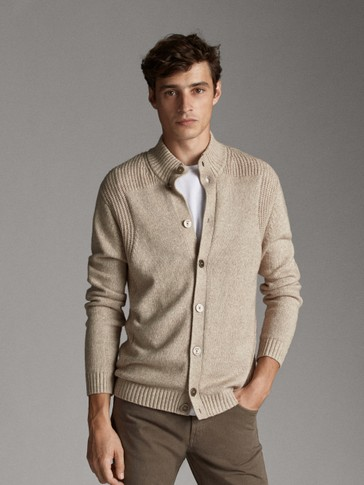 COTTON AND WOOL CARDIGAN WITH BUTTONS