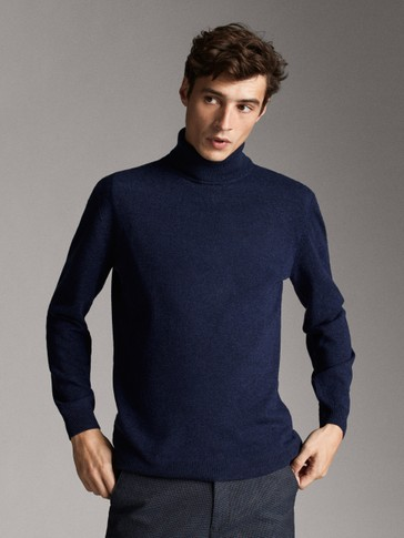 WOOL AND CASHMERE HIGH NECK SWEATER
