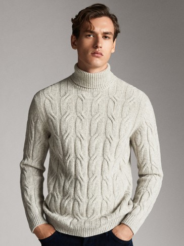 LIMITED EDITION THREE-TONE WOOL SWEATER