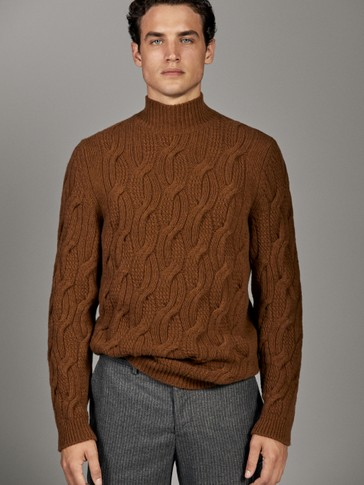 LIMITED EDITION HIGH NECK WOOL SWEATER