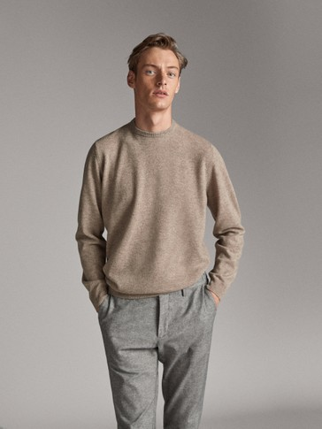 WOOL CASHMERE ROUND NECK SWEATER