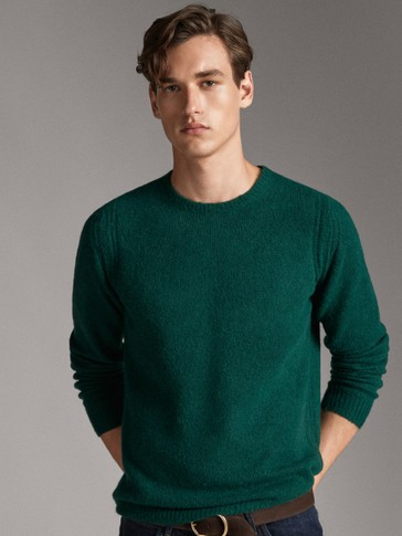 CREW NECK BOUCLÉ WOOL SWEATER