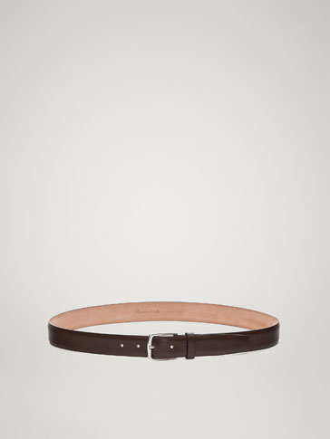 EMBOSSED LEATHER BELT