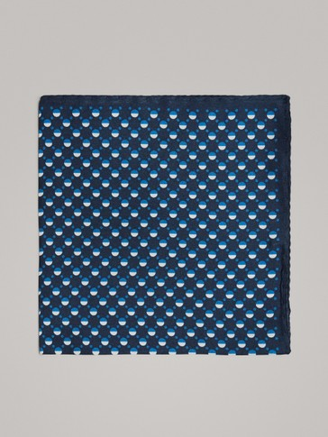 POLKA DOT 100% SILK POCKET SQUARE