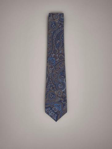 ربطة عنق من الحرير بزينة بايزلي