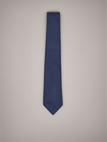 FALSE PLAIN SILK TIE