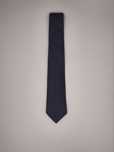 PERSONAL TAILORING PLAIN SILK AND WOOL TIE