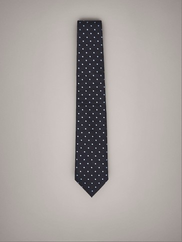 PRINTED SILK COTTON TIE