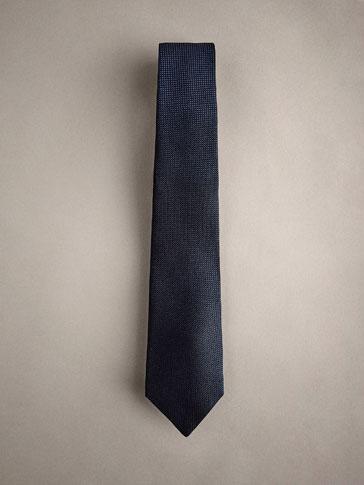 ربطة عنق 100% من الحرير نقش قدم طائر البلشون PERSONAL TAILORING