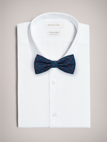 BOW TIE WITH LARGE POLKA DOTS