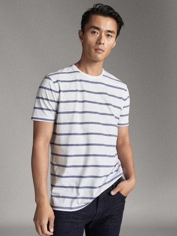 STRIPED COTTON T-SHIRT