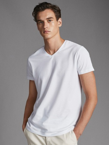 PLAIN COTTON T-SHIRT