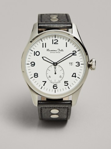 WATCH WITH WHITE FACE