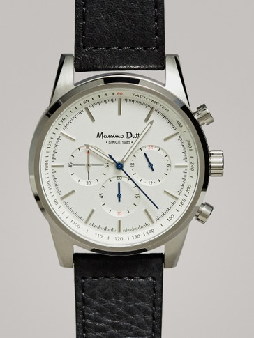 WHITE CHRONO WATCH