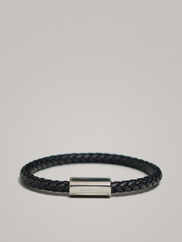 TUBULAR BRAID LEATHER BRACELET