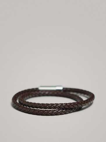 TUBULAR DOUBLE-BRAID LEATHER BRACELET