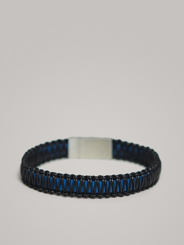 MACRAMÉ LEATHER BRACELET