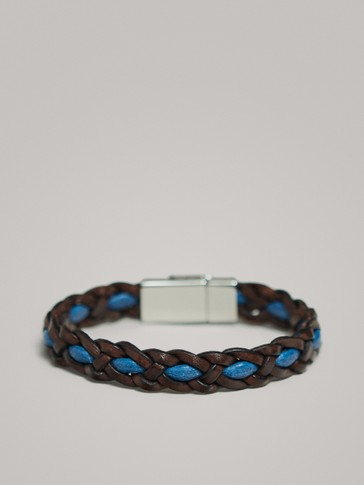 BRAID AND CORD LEATHER BRACELET