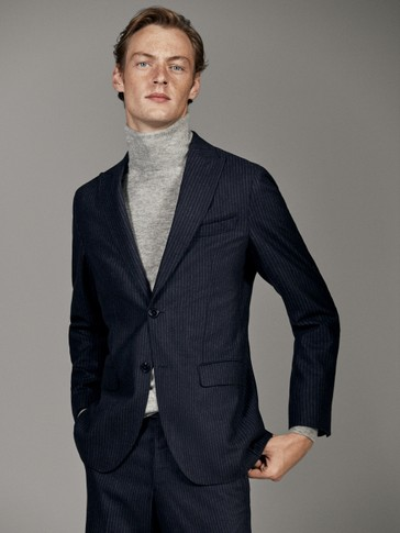 LIMITED EDITION SLIM FIT PINSTRIPE WOOL BLAZER