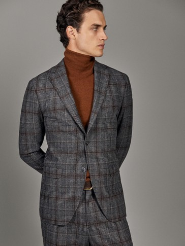 LIMITED EDITION SLIM FIT CHECK WOOL BLAZER