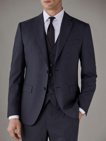 SLIM FIT PLAIN WOOL BLAZER