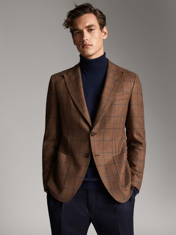 CHECK WOOL BLAZER PERSONAL TAILORING