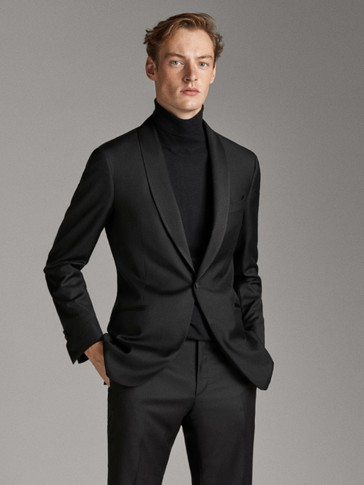 SCHWARZES SMOKING-JACKETT SLIM-FIT