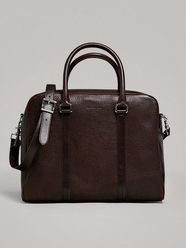 EMBOSSED MONTANA LEATHER BRIEFCASE