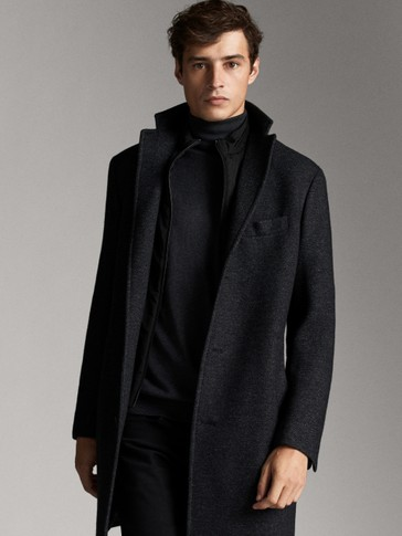 WOOL COAT WITH REMOVABLE LINING