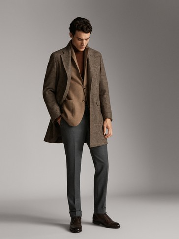 LIMITED EDITION CASHMERE AND WOOL CHECK COAT