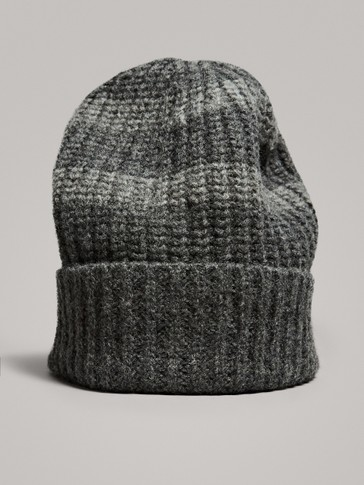 STRIPED 100% WOOL HAT
