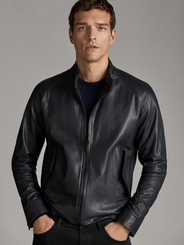 NAVY BLUE NAPPA JACKET
