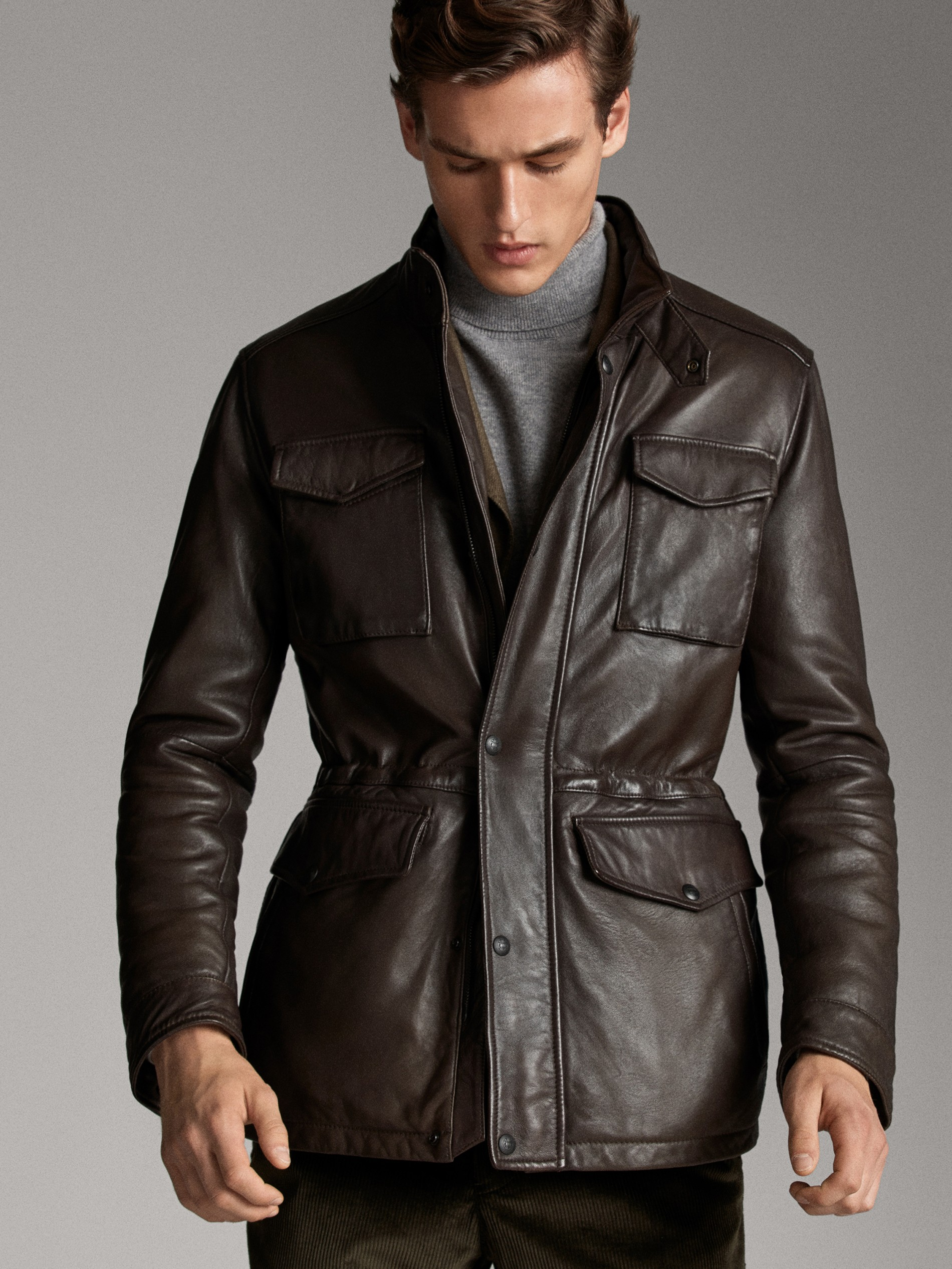 massimo dutti hombre chaquetas punto tallas