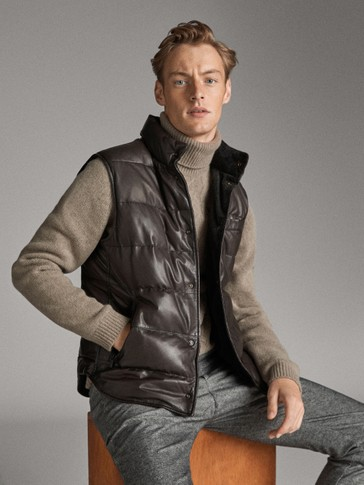 REVERSIBLE NAPPA AND CORDUROY GILET