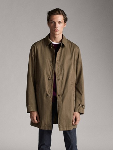 FADED COTTON TRENCH JACKET