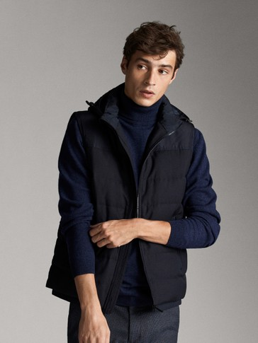 NAVY BLUE TECHNICAL DOWN GILET