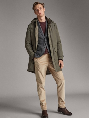 KHAKI TECHNICAL PARKA