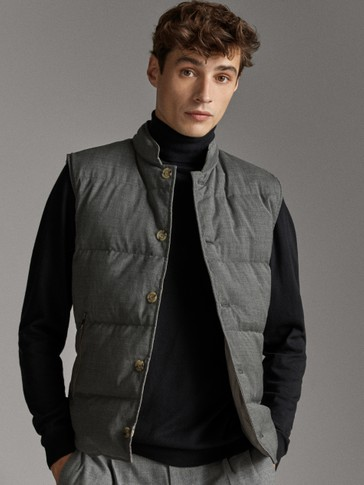 REVERSIBLE WOOL TECHNICAL GILET