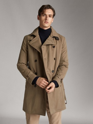 CLASSIC COTTON TRENCH COAT WITH QUILTED INTERIOR