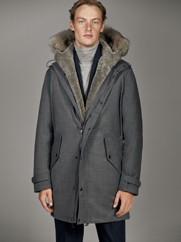 DOUBLE-SIDED WOOLLEN TECHNICAL PARKA