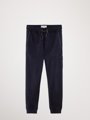 NAVY BLUE JOGGING TROUSERS WITH POCKET