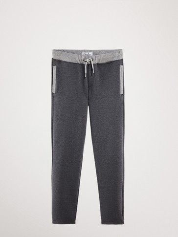 HERRINGBONE JOGGING TROUSERS