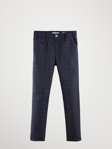 PANTALON À CARREAUX COUPE CASUAL