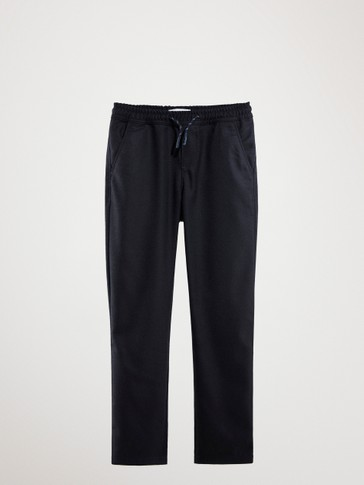CASUAL FIT DRAWSTRING TROUSERS