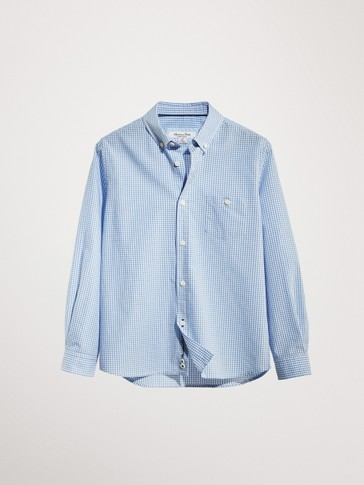 GINGHAM 100% COTTON SHIRT