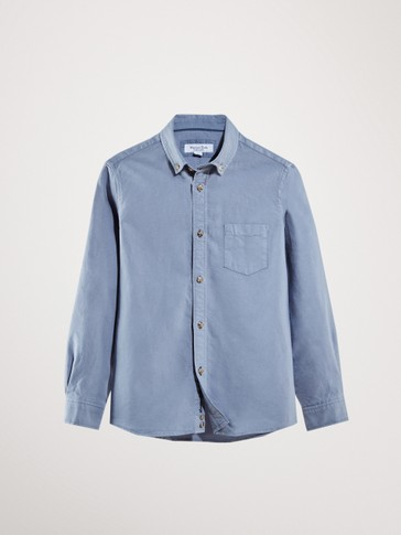 DYED OXFORD SHIRT WITH POCKET